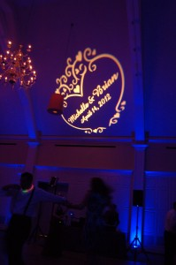 Uplighting and Gobo Name Logo lighting at the Renaissance Golf Club Haverhill MA