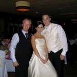 BLE's DJ Greg with Bride and Groom