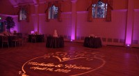 Wedding Monogram Gobo projection