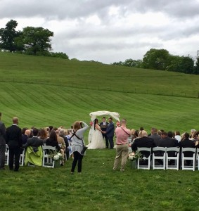 Lance and Lexi ceremony at Gibbet Hill