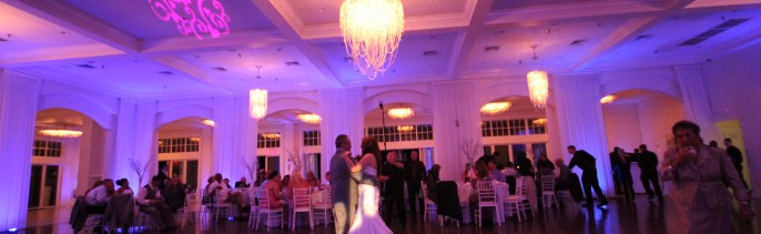 uplighting, custom gobo, pattern projection, newport wedding, Dj, newport wedding dj