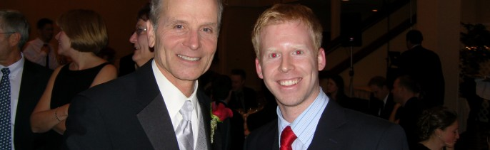 Dj Greg with the coolest Father of the Groom ever, WBZ's well know weatherman Barry Burbank