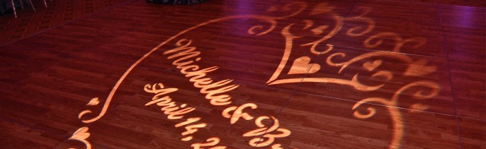 Wedding Monogram gobo projection Renaissance Golf Club