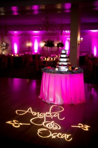 Monogram Gobo Projection and Uplighting at Black Swan Country Club