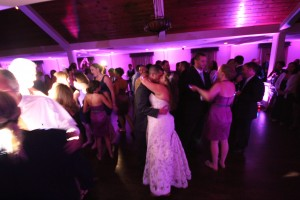 Villa at Ridder Country Club east Bridgewater first dance with bride and groom, Up lighting, monogram gobo projection, photo booth